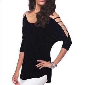 Tops - NWT Casual Loose Black 3/4 Sleeve Shirt